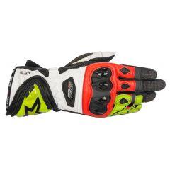 Alpinestars Glove Supertech black/white/Fl. red