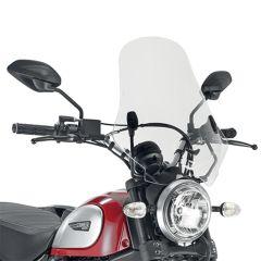 Givi Specific screen, transparent 48 x 43,5 cm Ducati Scrambler 400 (16), 800 (1 7407A