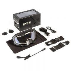 CKX Goggle 210° Heated black/clear lens