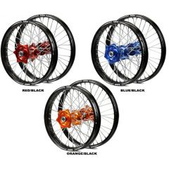 "Wheel kit TALON EVO 21""/18"" CR/CRF125-450 02- red/black PAIRTE753D//TE647L"