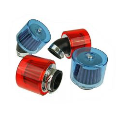 Air filter, Air-System, Red, Attachment Ø 35mm, Straight