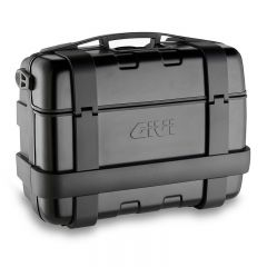 Givi Trekker 33 litre blackline top-case black with aluminium finish with top opening TRK33B