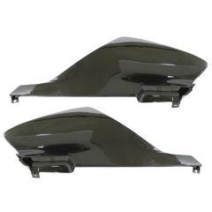 Tec-X Rear side cover kit, Black, Derbi Senda 00-08