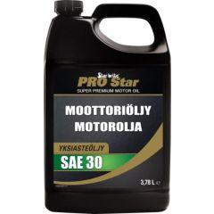 Moottoriöljy SAE30 diesel- ja bens.moottoreihin 3,78L