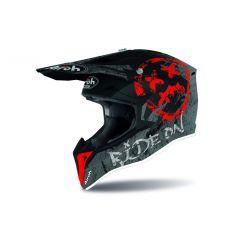 Airoh Helmet Wraap Youth Smile red matt