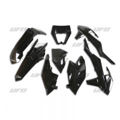 UFO Plastic kit 6-parts Black 001 KTM EXC/EXC-F 125-500 17-19