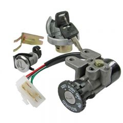 Ignition switch & Lock set, China-scooter 4-T / Baotian