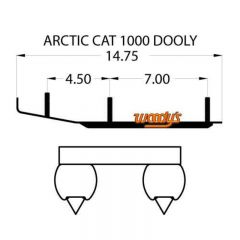 """Woodys Dooly Arctic Cat Trail Runners 6"""" 1pc/pack"""