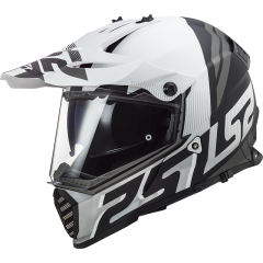 LS2 Helmet MX436 PIONEER EVO EVOLVE WHITE MATT BLACK