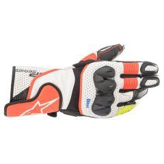 Alpinestars Glove SP-2 v3 White/Red Fluo