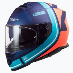 LS2 Helmet FF800 STORM Slant Blue/Fluo Orange