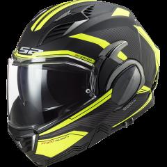 LS2 Helmet FF900 VALIANT II  REVO MATT BLACK H-V YELLOW