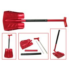 Sno-X Snow showel with saw, Red Aluminum SC-12500RD-2