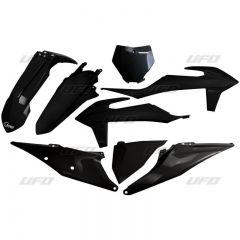 UFO Plastic kit 5-parts KTM SX/SXF125-450 19- Black 001