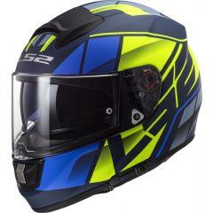 LS2 Helmet FF397 Vector FT2 Kripton Matt Blue/Hi Vis