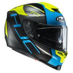 HJC Helmet RPHA 70 Vias MC2SF Black/Blue/Yellow