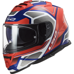 LS2 Helmet FF800 STORM  FASTER  MATT FLUO Red BLUE