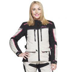 Sweep Textilejacket Charisma WP Lady, white/black/pink
