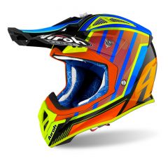 Airoh Helmet Aviator 2.3 AMS2 Glow chrome orange