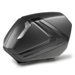Givi V37 Tech pair of black sidecases with smoked reflectors and carbon look