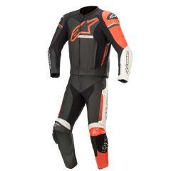 Alpinestars Leather suit GP Force Phantom V2 2 PCS Black/White/Fluo Red 48
