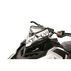 Skinz Next Level Windshield Pak Black/White 2015- Polaris Axys