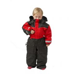 SnowPeople Safari kids overall red/black
