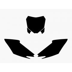 Blackbird Pre Cut Backgrounds black CRF250 14-15/CRF450 13-15