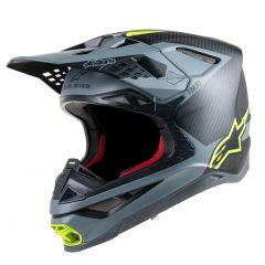 Alpinestars Helmet Supertech S-M10 Meta BlackGray/Yellow fluo