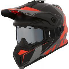 CKX Helmet Titan Cliff Orange with goggle