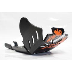 AXP Xtrem HDPE Skid Plate Black KTM EXCF250-EXCF350 17- AX1426