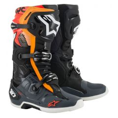 Alpinestars Boot Tech 10 Blk/Gray/Or/Red Fluo