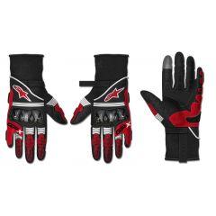Alpinestars Gloves GP X v2 Black/Red fluo