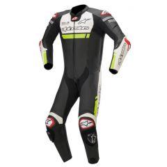 Alpinestars Leather Suit 1-pcs Missile Ignition Tech Air Black/Wht/Gul Fluo