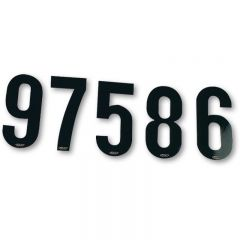 UFO Enduro numbers stickers 15cm Black no 0-9, 10 pcs each number