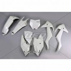 UFO Plastic kit 5-parts White 047 KTM SX/SXF125-525 16-18