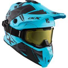 CKX Helmet + Goggles TITAN Climb Mat Light Blue