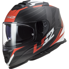 LS2 Helmet FF800 STORM  NERVE MATT BLACK RED