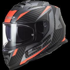 LS2 Helmet FF800 STORM  RACER  MATT TITANIUM FLUO ORANGE