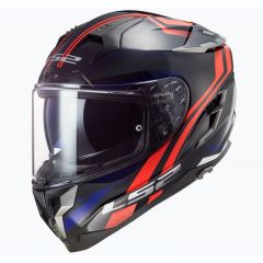 LS2 Helmet FF327 Challenger Propeller Red/Blue