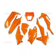 UFO Plastic kit 6-parts Orange 127  KTM EXC/EXC-F 125-450 17-19