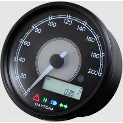 Daytona Velona 80 speedometer 0-200KM/H, black