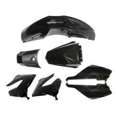 Tec-X Bodywork kit, Black, Derbi Senda 00-08