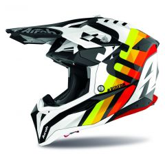 Airoh Helmet Aviator 3 Rainbow white gloss