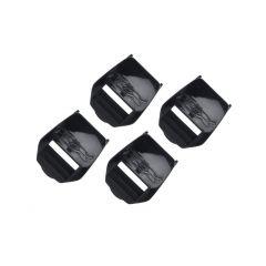 TCX PU Buckle Receivers Comp Evo/Pro 2.1/Pro 1.1/X-Mud black