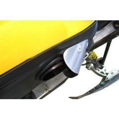Skinz Exhaust Outlet Deflector Polished Alum. Ski-Doo Rev & Rev XP,XS,XM SDED400-AL
