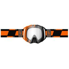 MT MX Evo Stripes MX goggles, orange/black