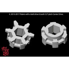 "Avid Sprocketpair Polaris 3,5"" 6 teeth Polaris Beltdrive, centerdrive 3.5"" 6 te"