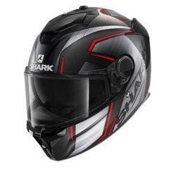 Shark Spartan GT Carbon Kromium, grey/red