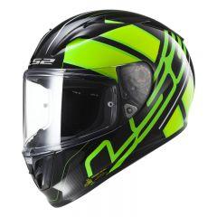 LS2 Helmet FF323 ION Black Fluo Green